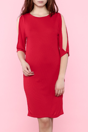 MinkPink Red Knee Dress - Product Mini Image