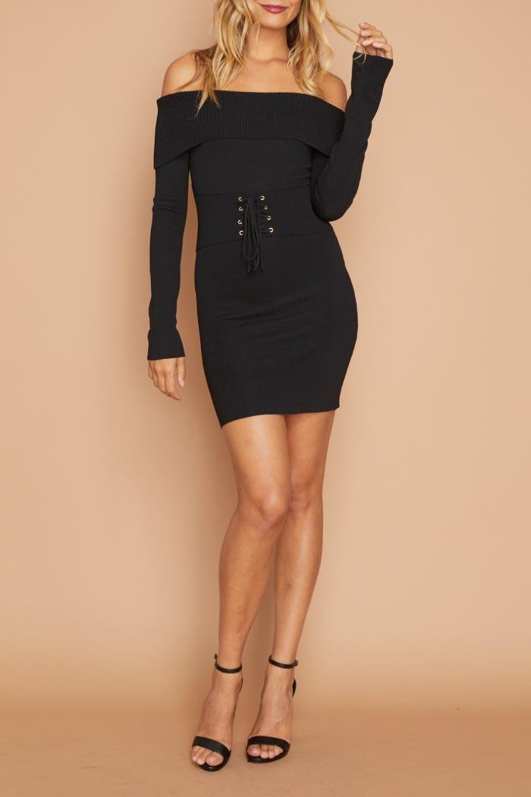MINKPINK Corset Knit Dress - Main Image