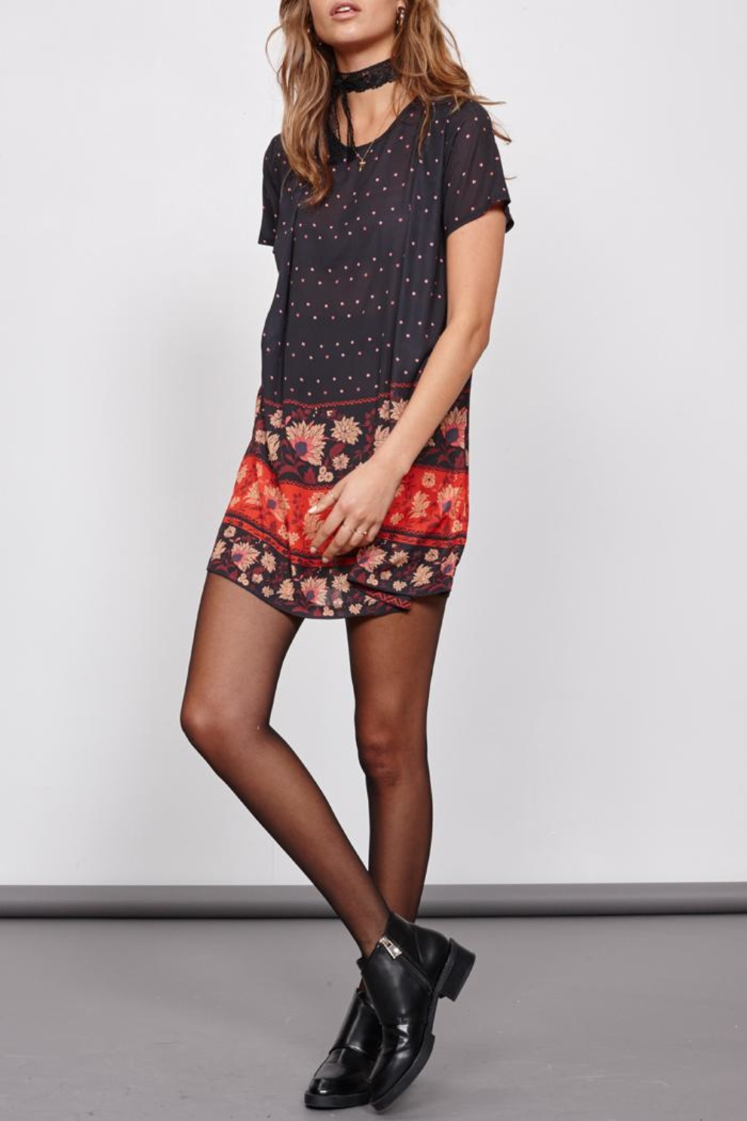 MinkPink Fallen T-Shirt Dress - Side Cropped Image