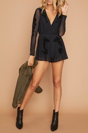 MinkPink Flocked Mesh Romper - Product Mini Image
