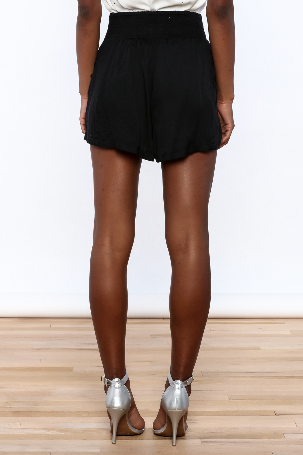 MINKPINK Flared High Waist Shorts - Back Cropped Image