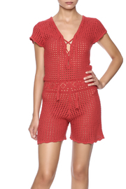 MinkPink Interwoven Knit Playsuit - Product Mini Image
