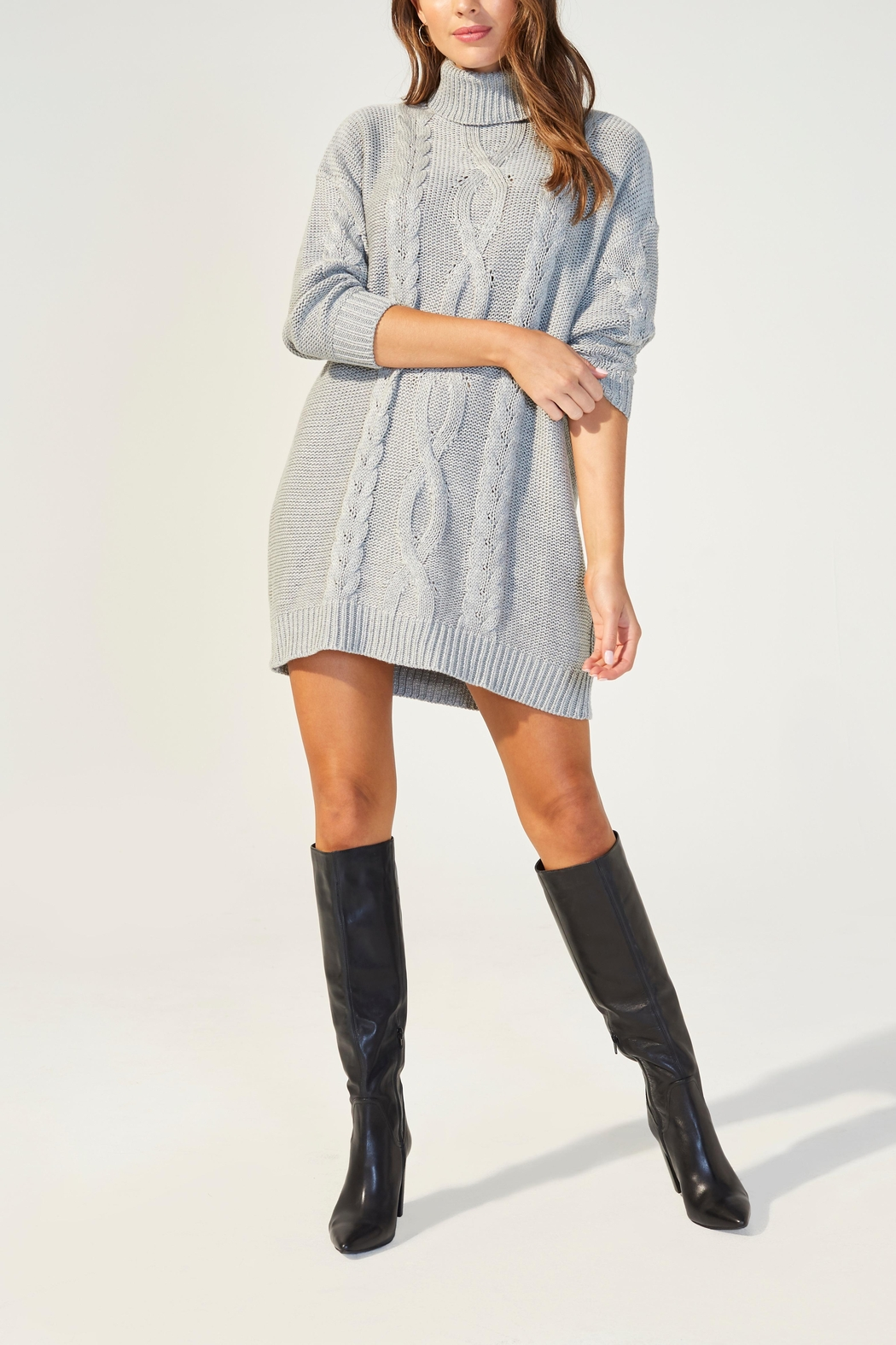 MINKPINK Janine Sweater Dress - Front Cropped Image