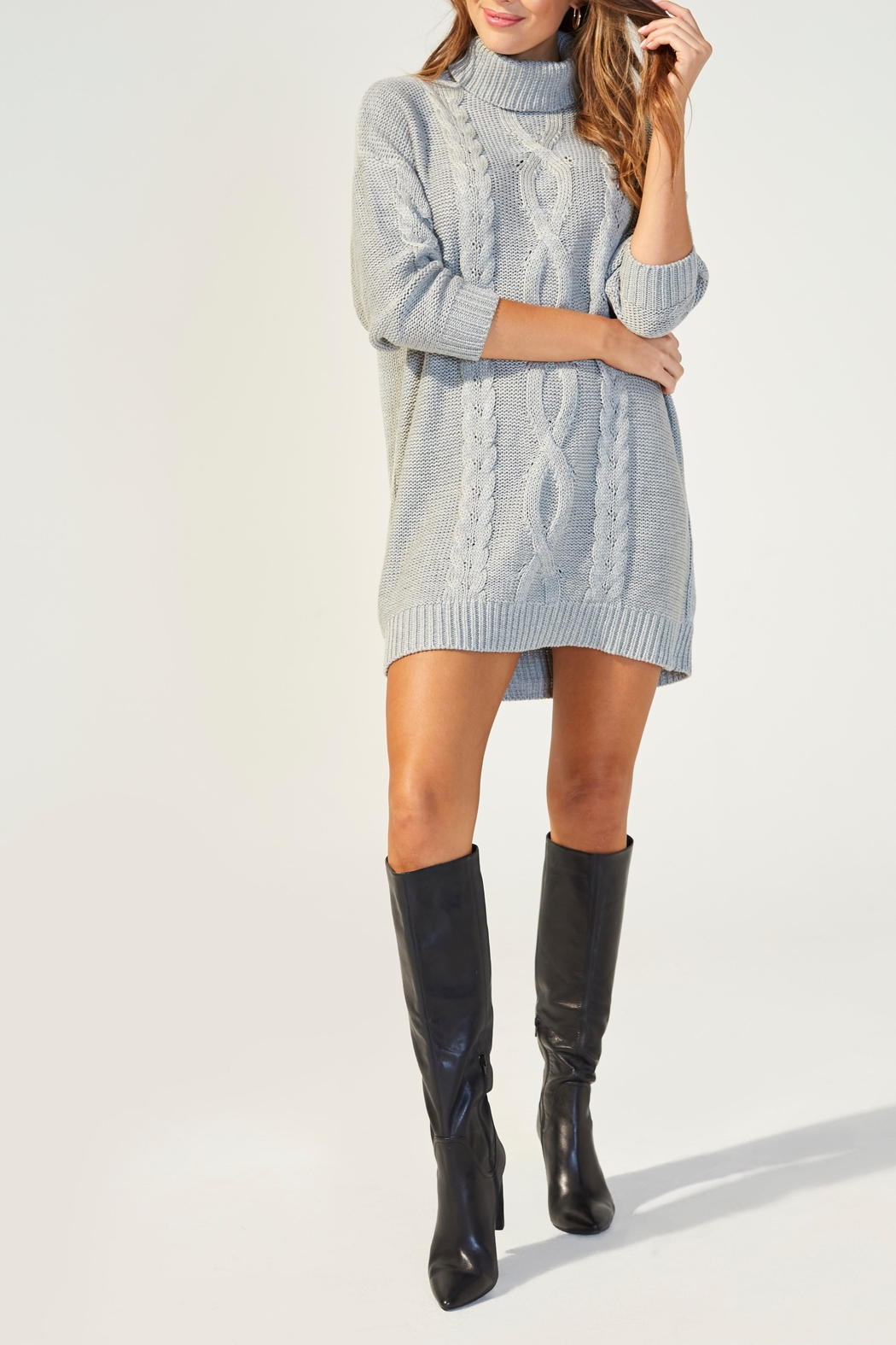 MINKPINK Janine Sweater Dress - Front Full Image