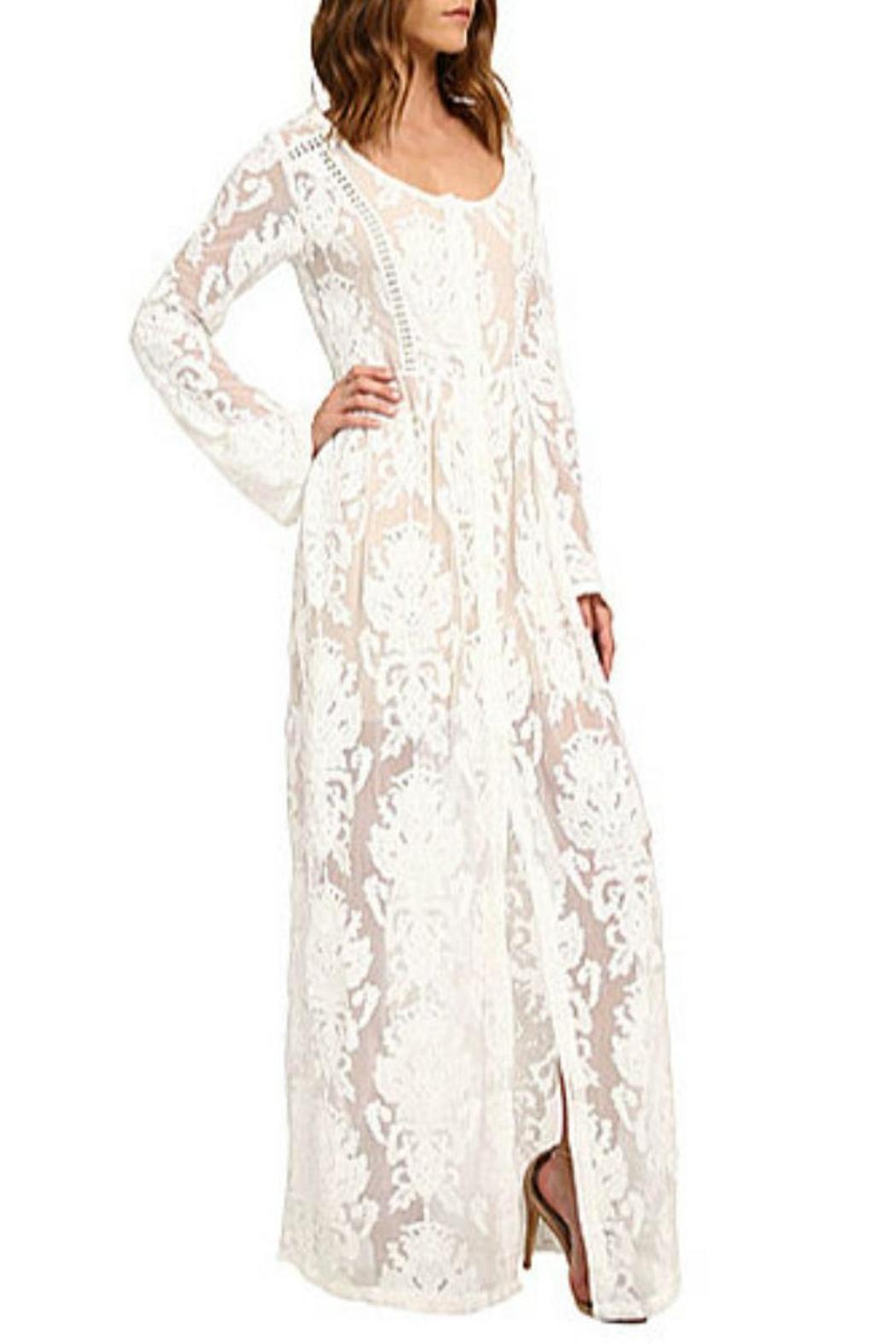 MINKPINK Lace Maxi Dress - Front Full Image