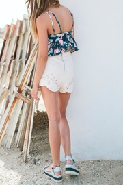 MinkPink Mandolin Lasercut Shorts - Front full body