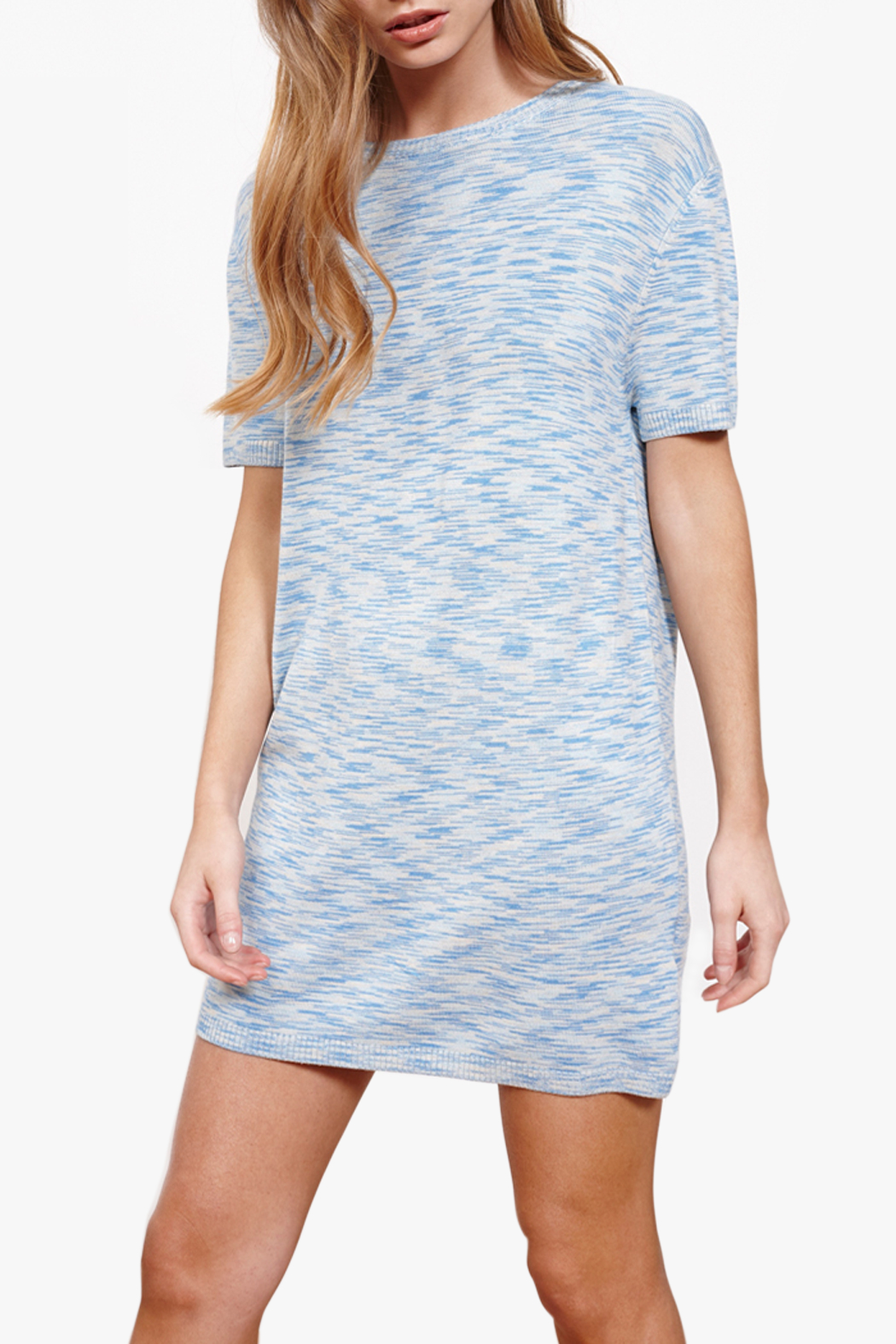 MinkPink Mini Tee Dress - Front Cropped Image