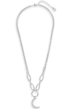 Sterling Moon Chain Link Necklace - Alternate List Image
