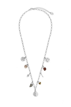 Sterling Multi Charm Chain Necklace - Alternate List Image