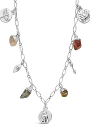 Sterling Multi Charm Chain Necklace - Product Mini Image