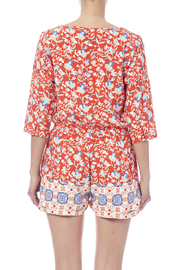 MinkPink Neighborhood Floral Romper - Back cropped
