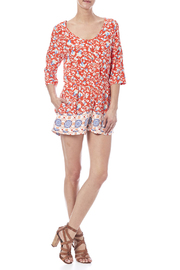 MinkPink Neighborhood Floral Romper - Front full body