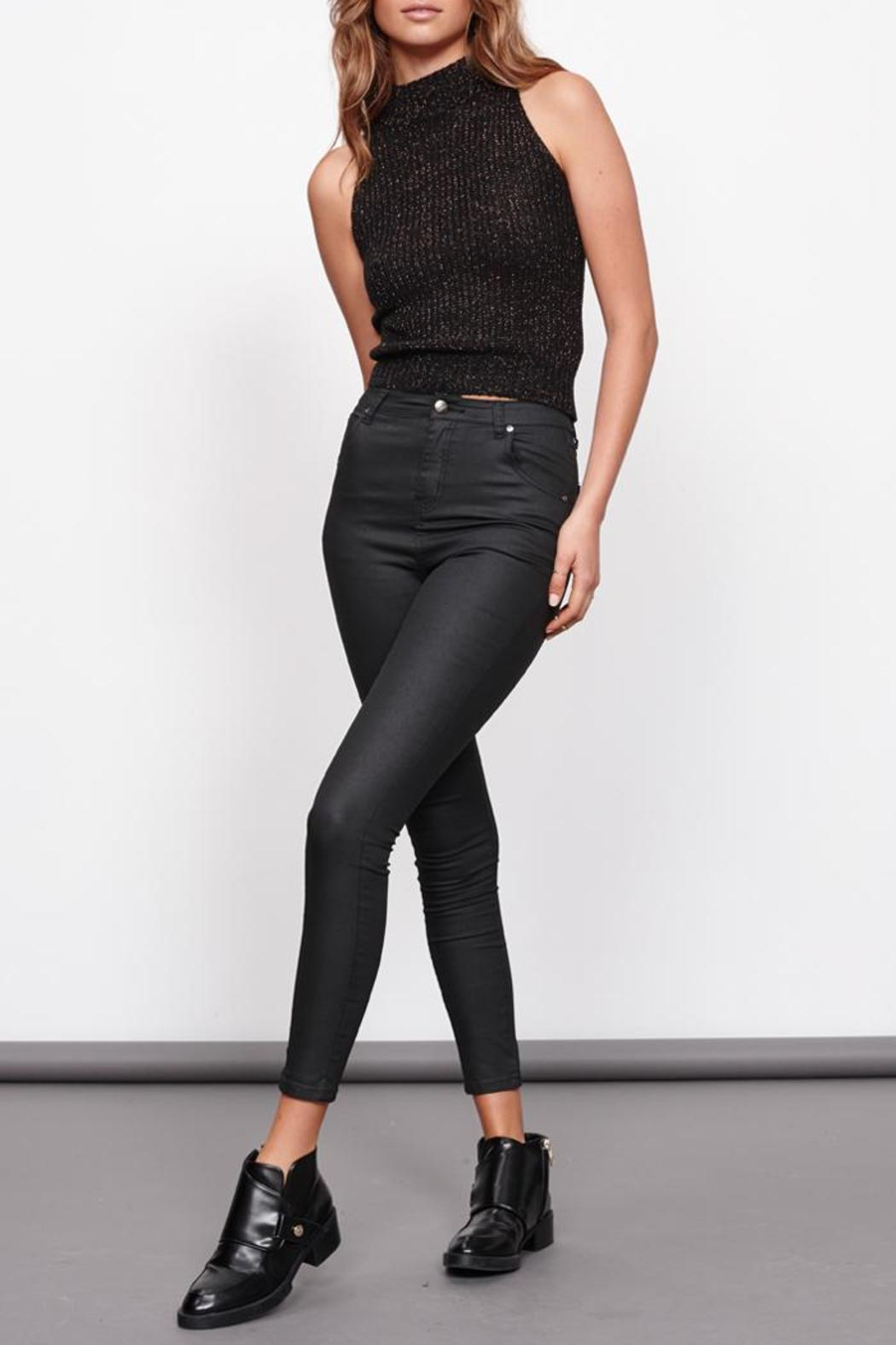MINKPINK Nightrider Coated Jeans - Front Full Image