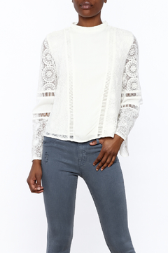 Shoptiques Product: White Lace Panel Blouse