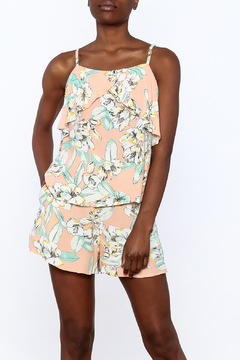 MinkPink Peach Floral Print Top - Product List Image