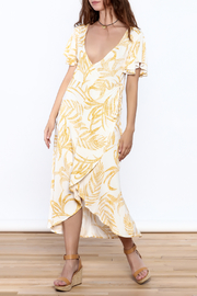 MinkPink Paradise Waterfall Wrap Dress - Product Mini Image