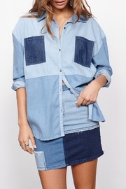 MinkPink Patch Denim Shirt - Product Mini Image