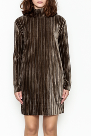 MinkPink Pleated Velvet Dress - Front full body