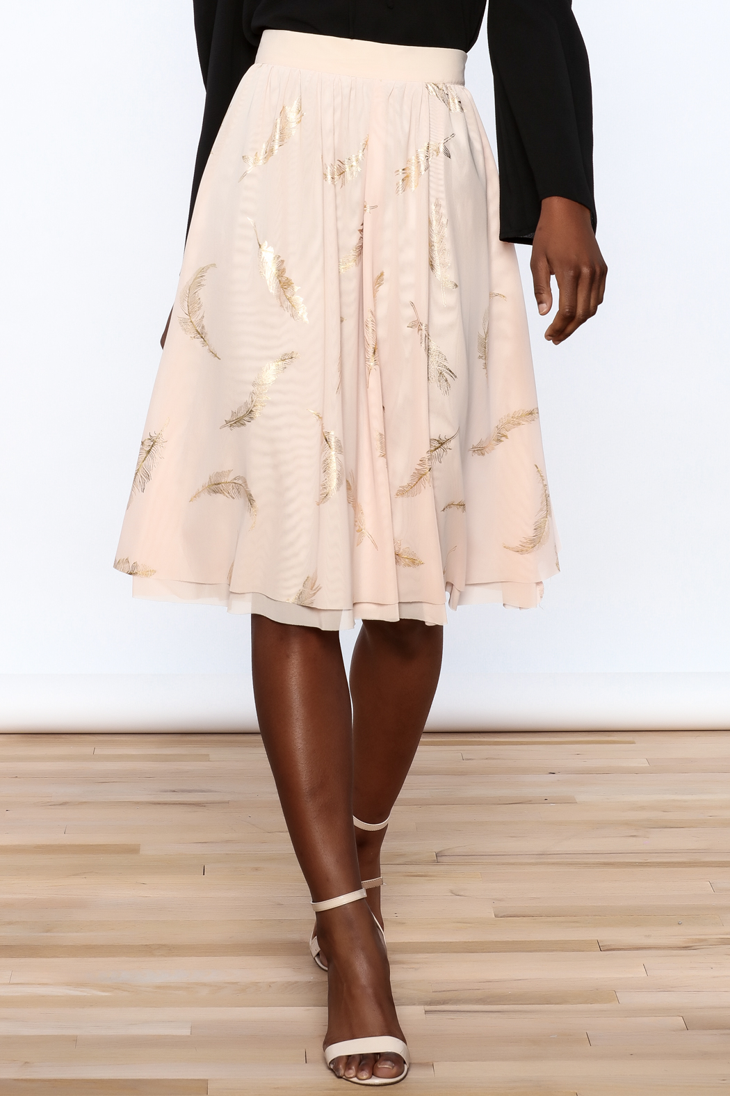 MinkPink Pink Midi Skirt - Front Cropped Image