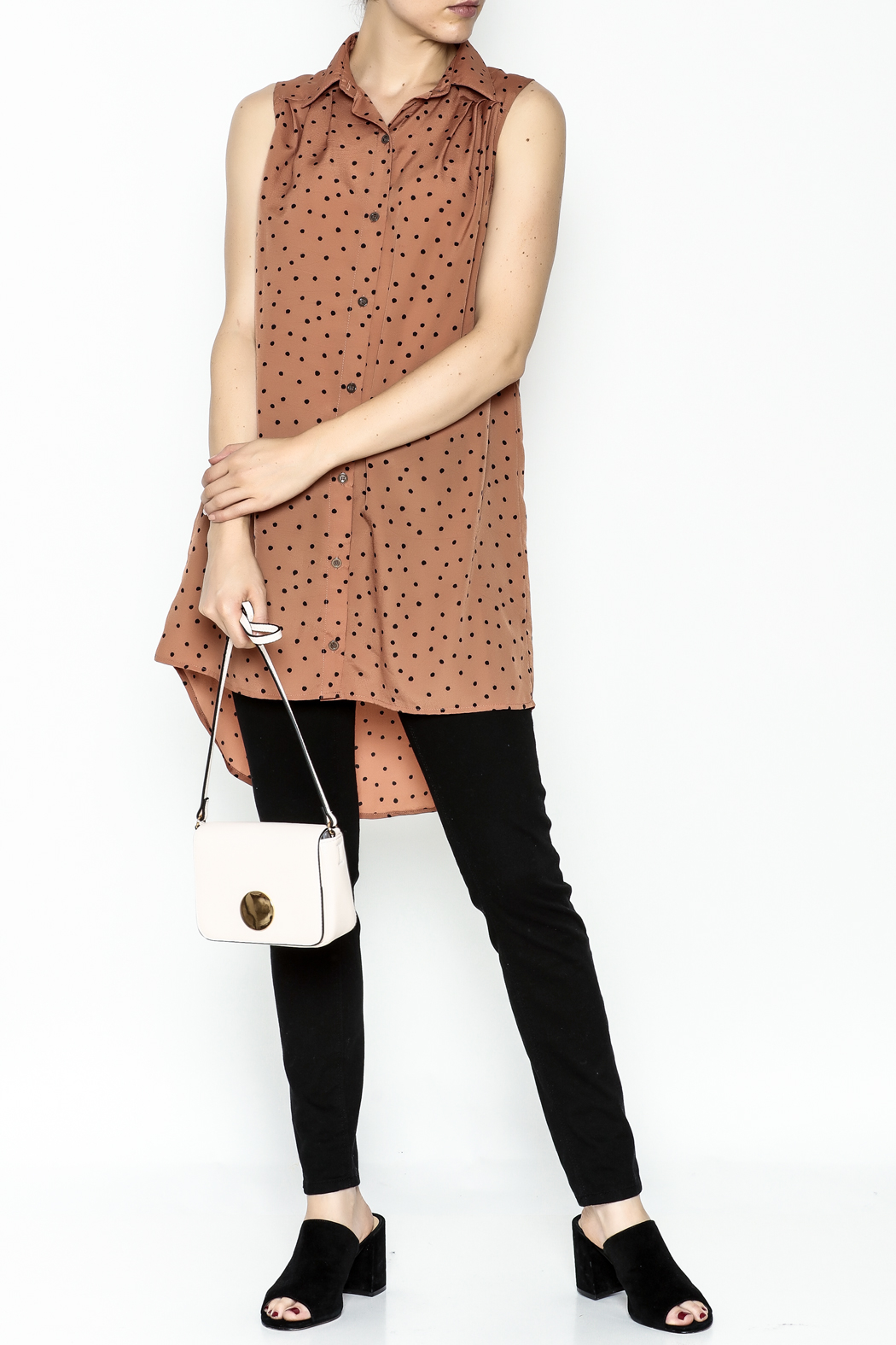 MinkPink Dotted Tunic Dress - Side Cropped Image