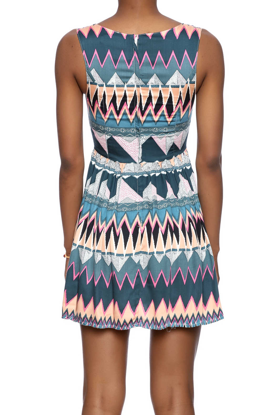 MINKPINK Printed Fit-And-Flare Dress - Back Cropped Image
