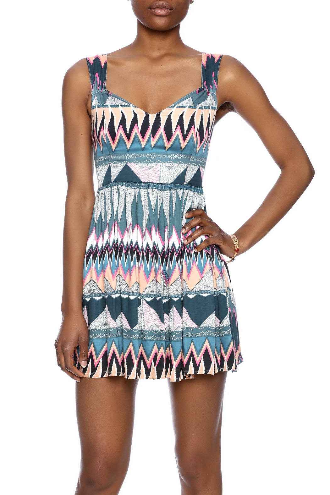 MINKPINK Printed Fit-And-Flare Dress - Main Image