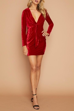 Shoptiques Product: Red Velvet Dress