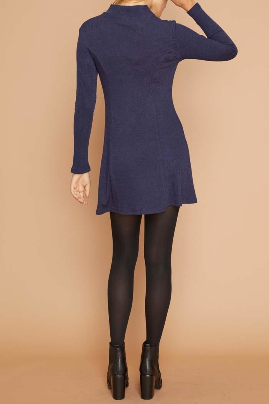 MinkPink Ribbed Keyhole Dress - Side Cropped Image