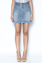 MinkPink Sidewalk Denim Skirt - Front full body
