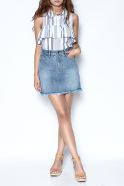 MinkPink Sidewalk Denim Skirt - Side cropped