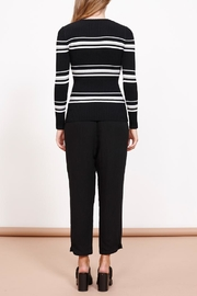 MINKPINK Stripe Ribbed Sweater Top - Front full body