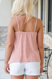 MINKPINK Striped Leah Top - Front full body