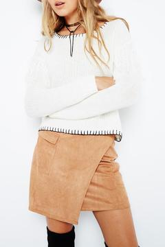 MinkPink Suede Wrap Skirt - Product List Image
