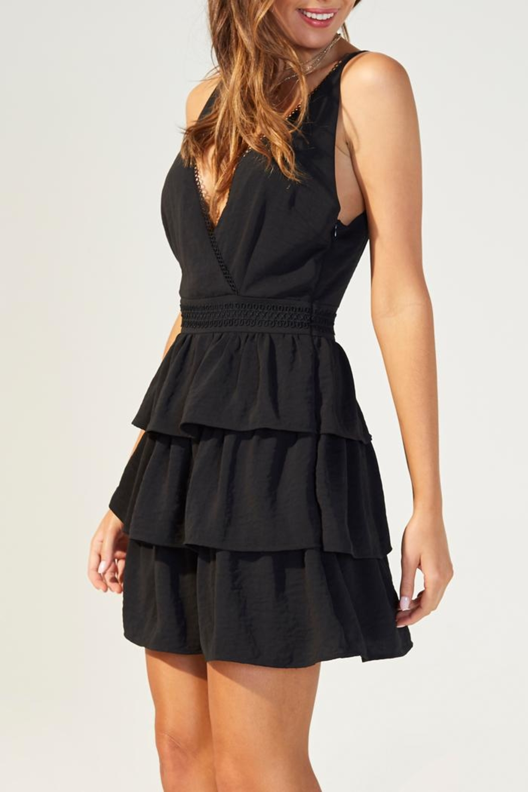 MINKPINK Tiered Strappy Dress - Front Full Image