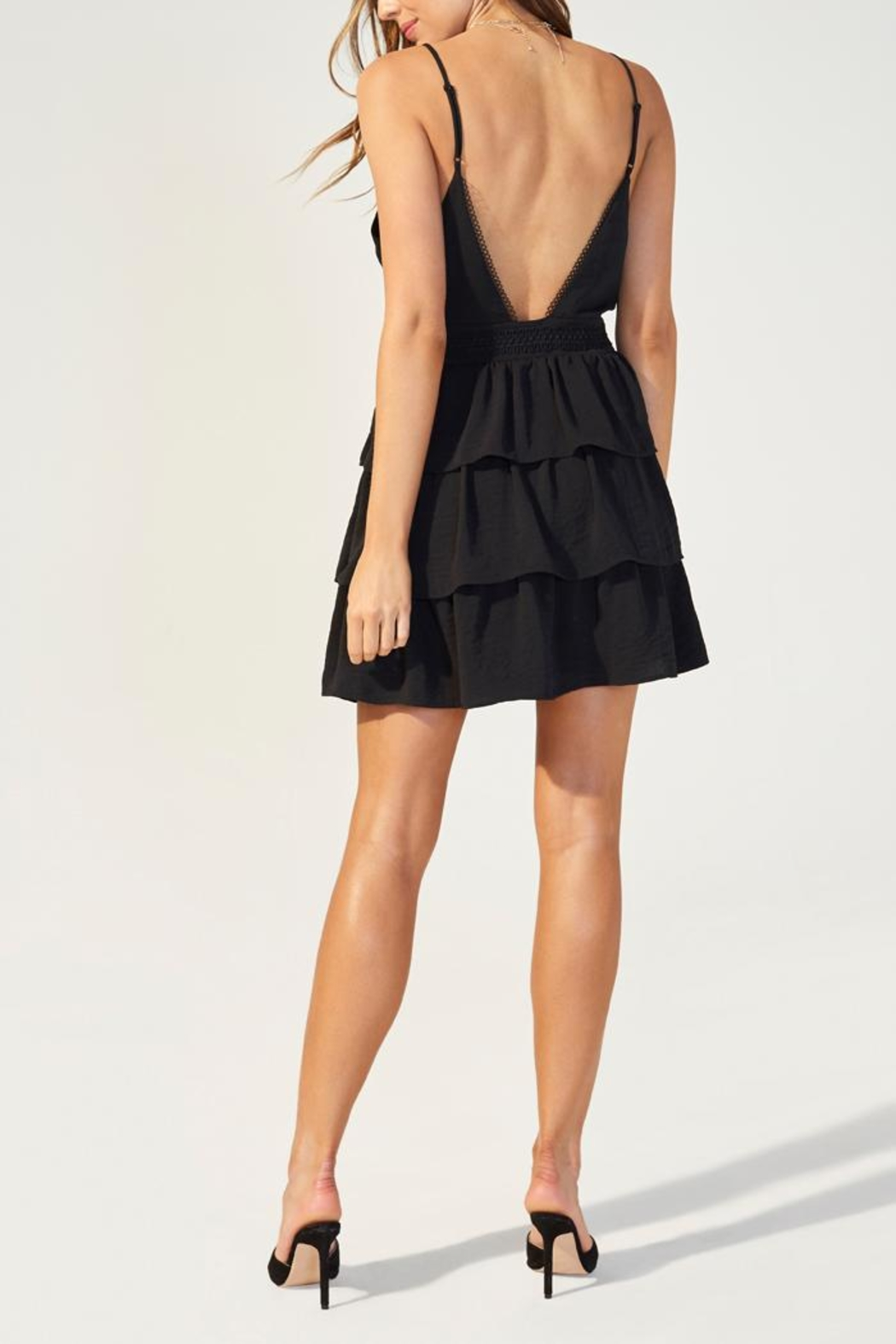 MINKPINK Tiered Strappy Dress - Side Cropped Image