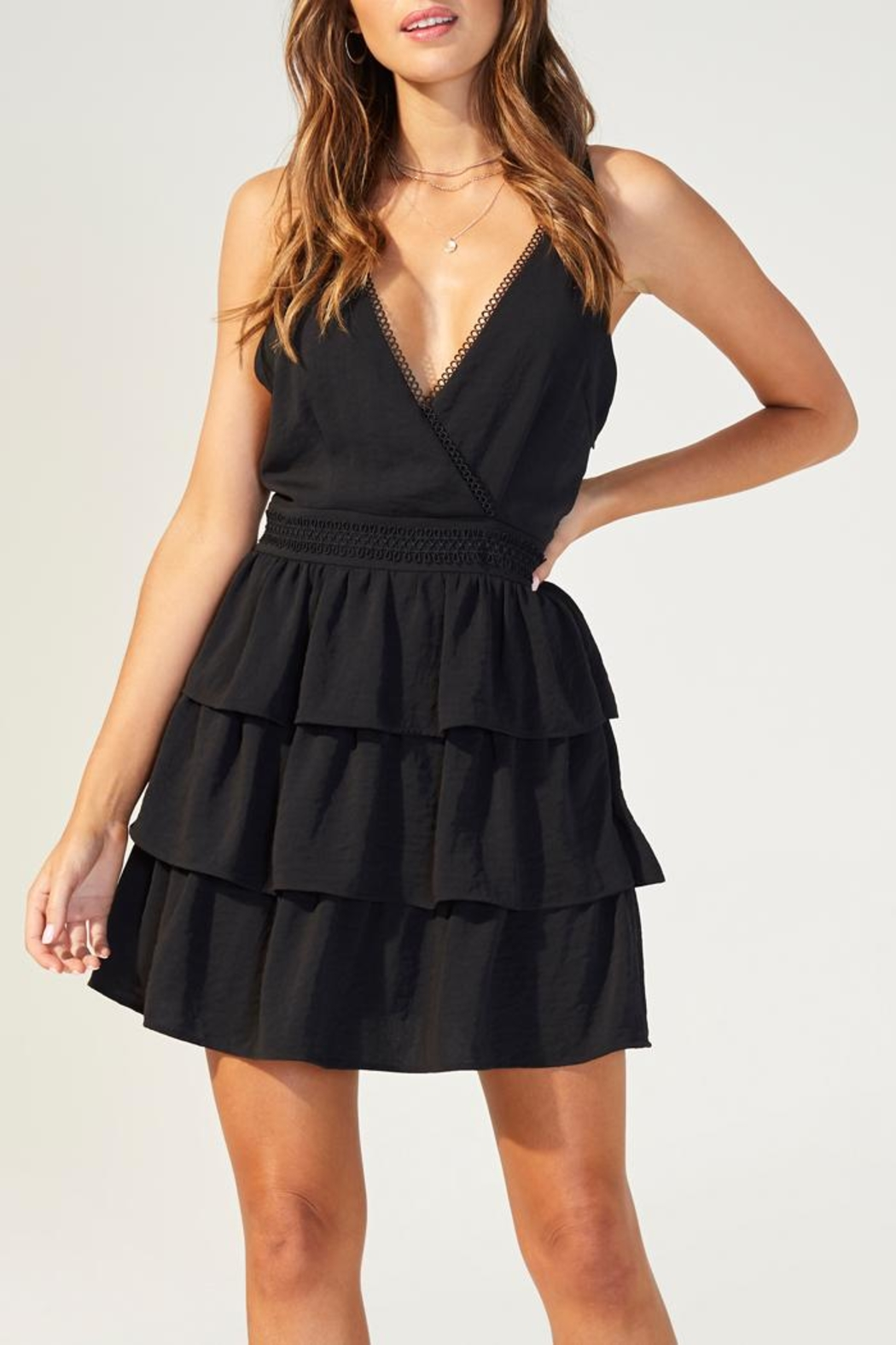 MINKPINK Tiered Strappy Dress - Main Image
