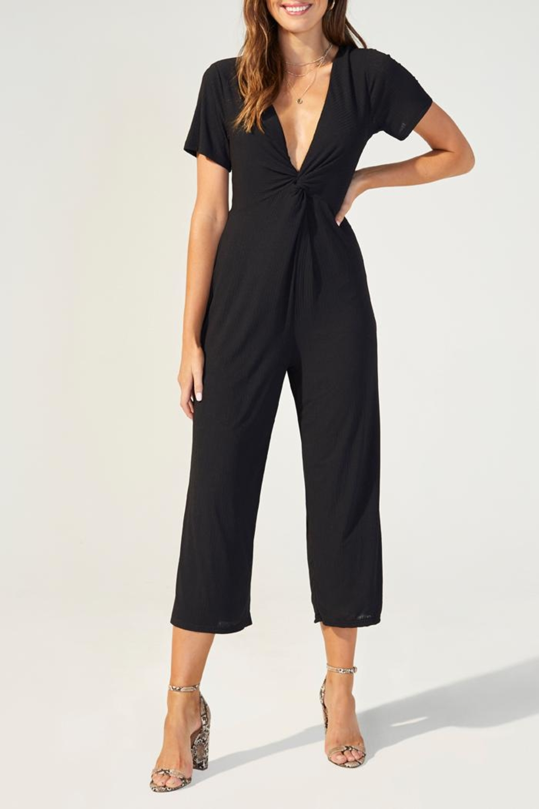 MINKPINK Twist Front Jumpsuit - Front Cropped Image