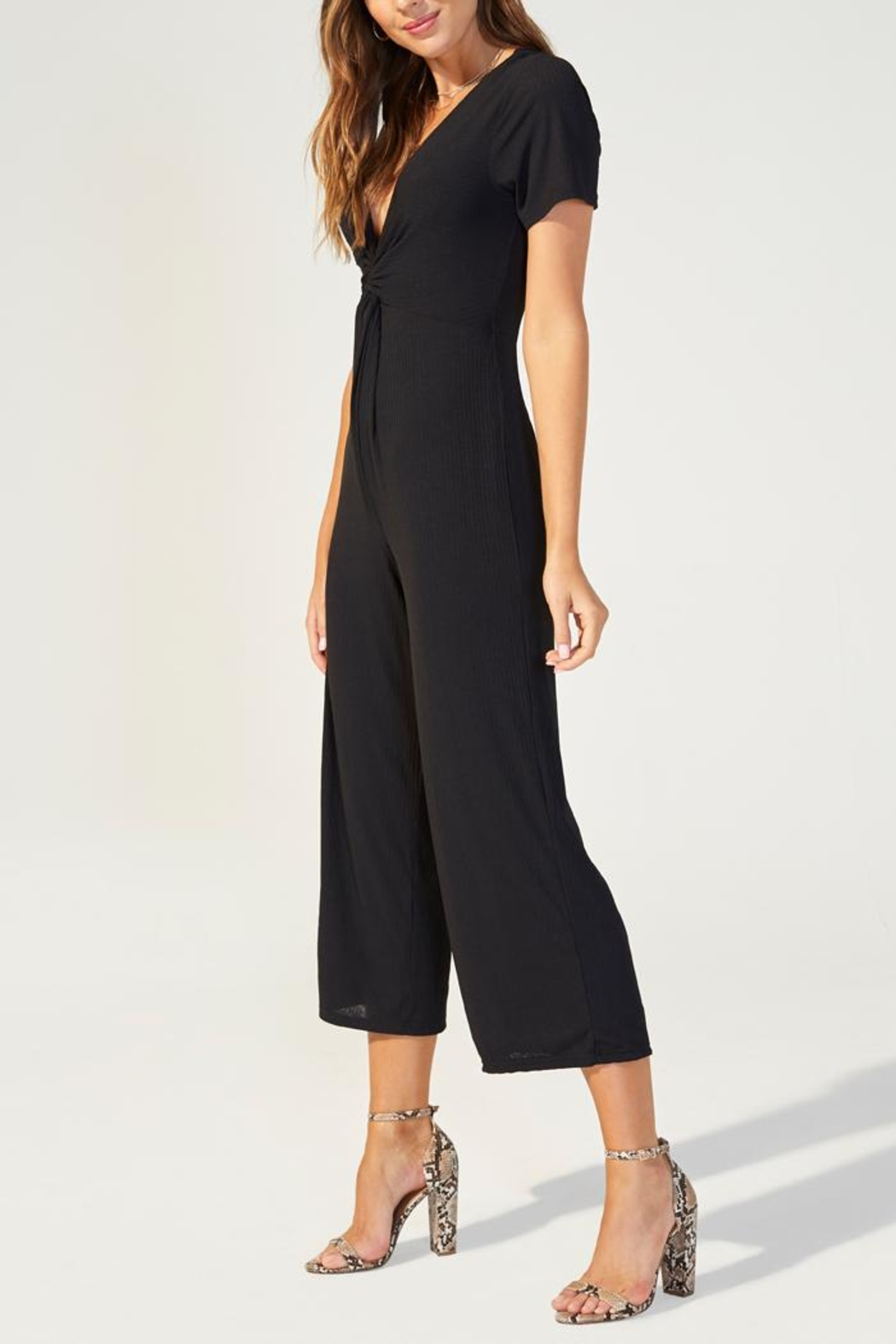MINKPINK Twist Front Jumpsuit - Front Full Image