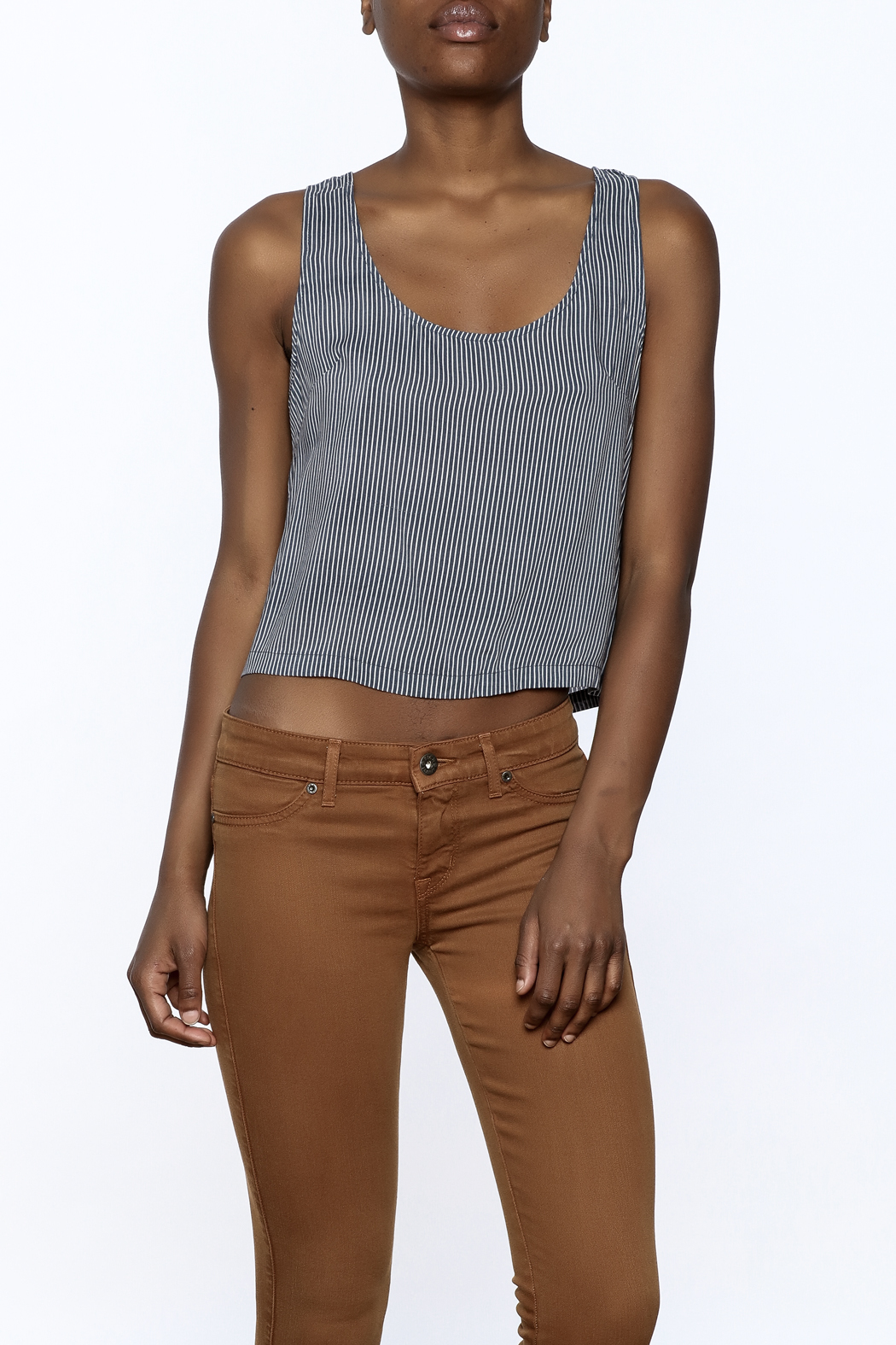 MINKPINK Uptown Girl Crop Top - Front Cropped Image