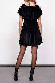 MinkPink Velvet Ruffle Dress - Back cropped