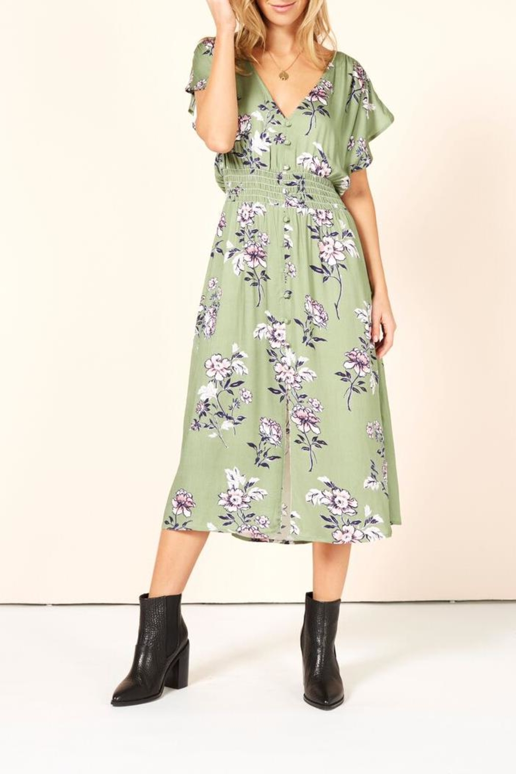 MinkPink Wanderer Midi Dress - Main Image