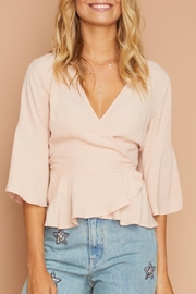 MinkPink Wanderers Wrap Top - Front cropped