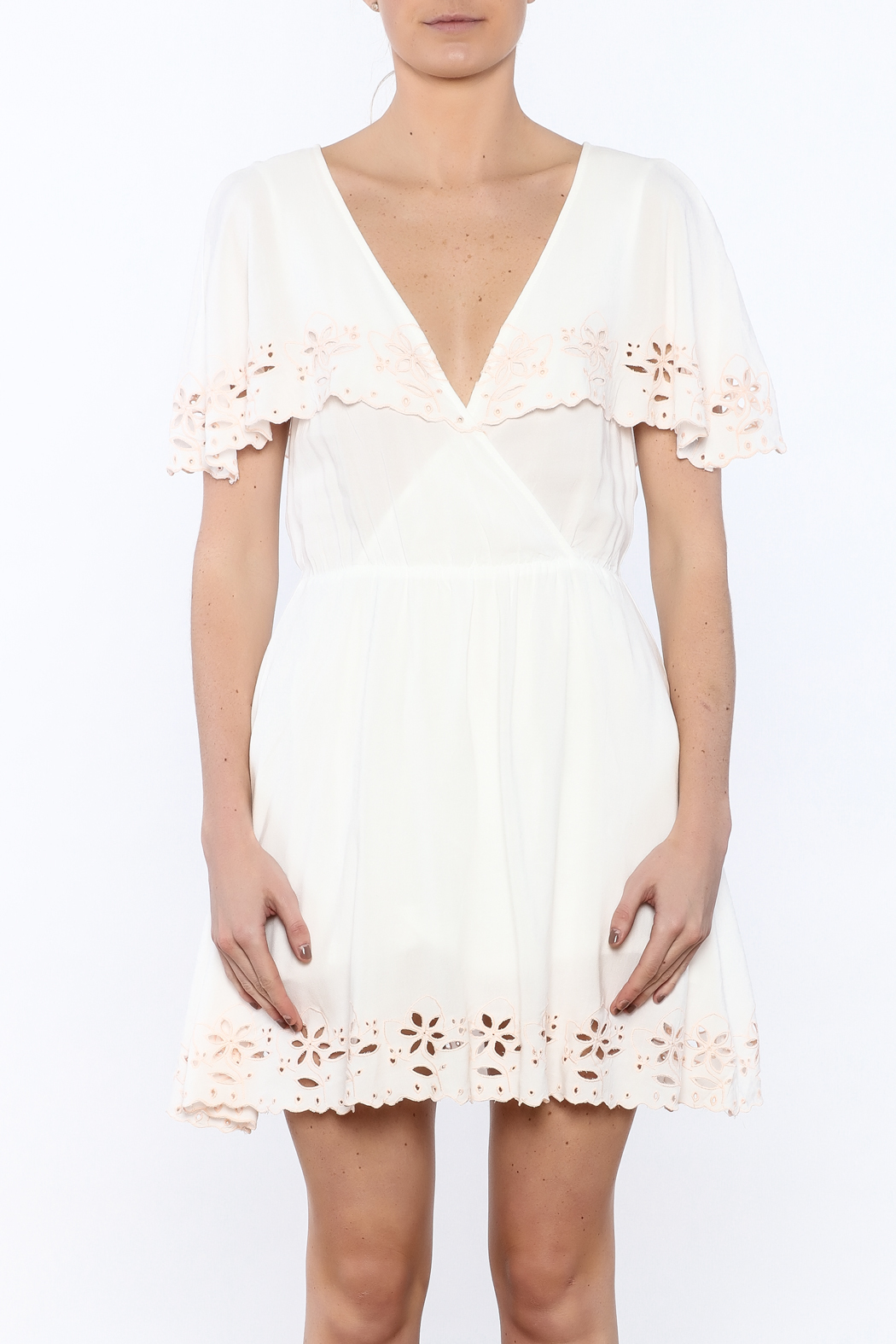 MINKPINK White Shadows Dress - Side Cropped Image