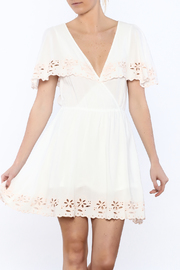 MinkPink White Shadows Dress - Product Mini Image