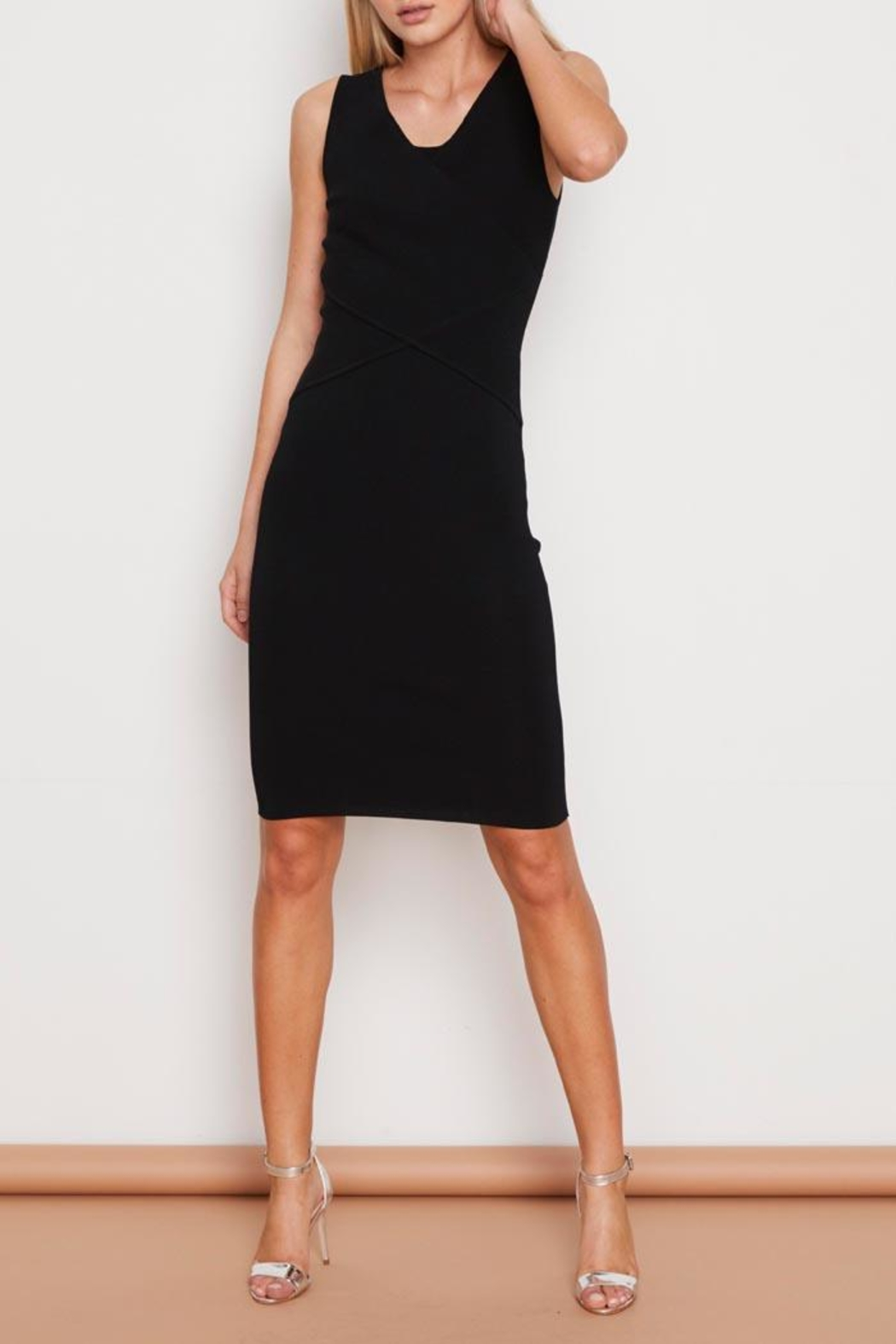 MINKPINK Wrap Knit Dress - Front Cropped Image