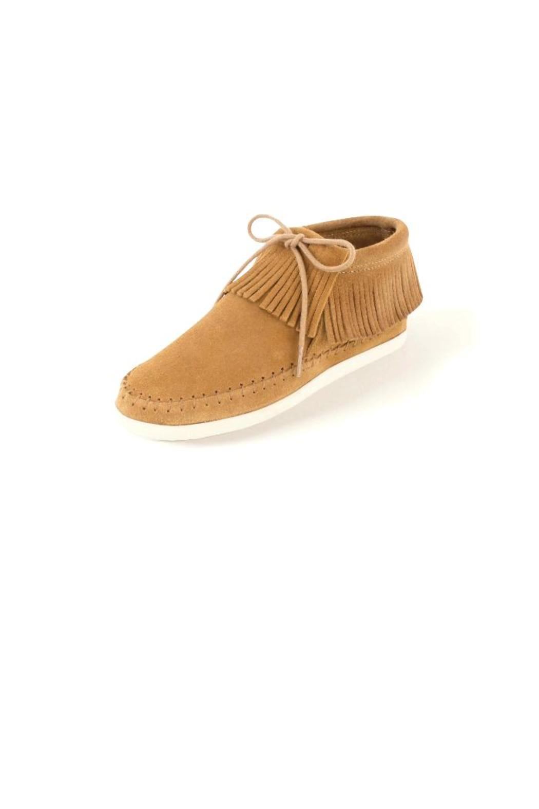 Minnetonka Soft Moccasin Booties - Front Cropped Image