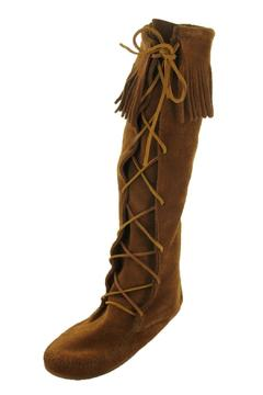 Minnetonka Moccasin Brown Boot Moccasins - Product List Image