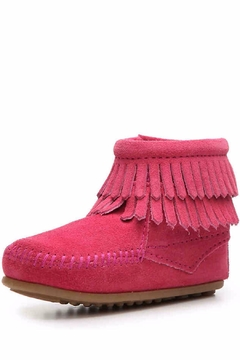 Minnetonka Moccasin Girl's Leather Bootie - Product List Image
