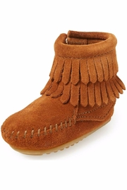 Minnetonka Moccasin Girl's Suede Bootie - Product Mini Image