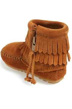 Minnetonka Moccasin Girl's Suede Bootie - Alternate List Image